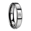 Mm Brushed Tungsten Ceramic Small Particles Ring Image